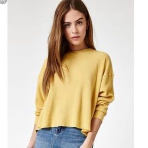 Brandy Melville J Galt yellow long sleeve
